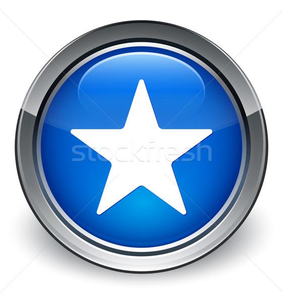 Star icon glossy blue button Stock photo © faysalfarhan