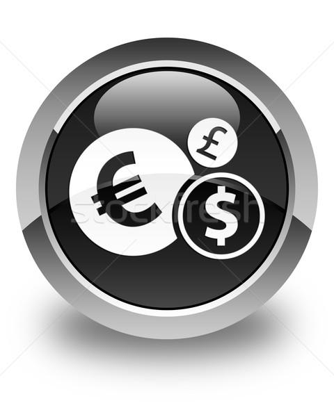 Finances icon glossy black round button Stock photo © faysalfarhan