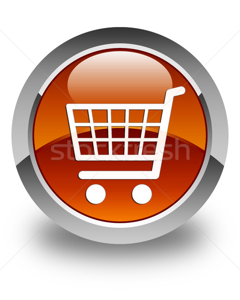 Ecommerce icon glossy brown round button Stock photo © faysalfarhan