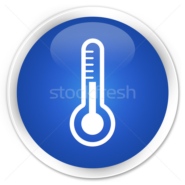 Thermometer icon blue button Stock photo © faysalfarhan