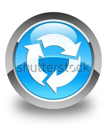 Refresh icon glossy brown round button 2 Stock photo © faysalfarhan