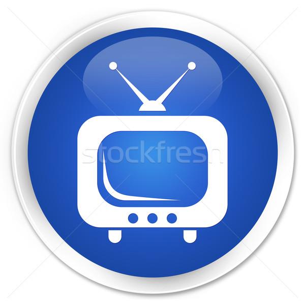 TV blue button Stock photo © faysalfarhan