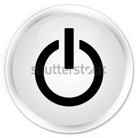 Power icon glossy blue button Stock photo © faysalfarhan