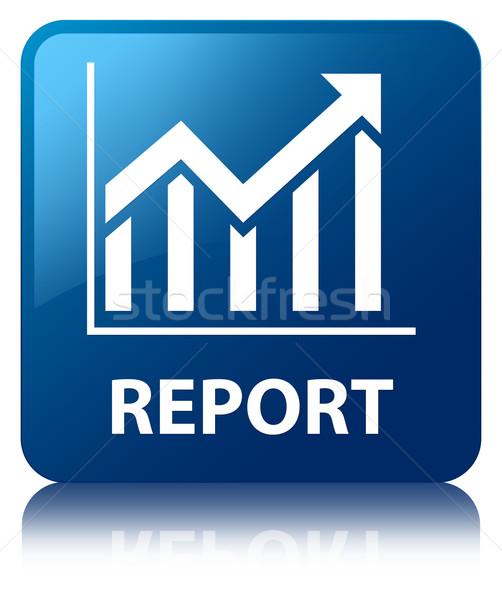 Rapport statistiques icône bleu carré Photo stock © faysalfarhan