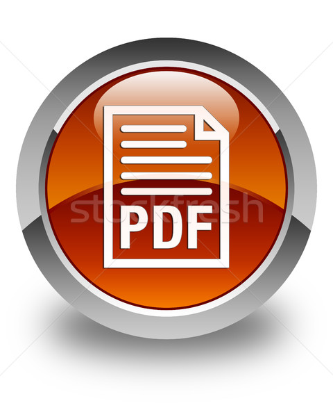 Pdf documento ícone marrom botão Foto stock © faysalfarhan