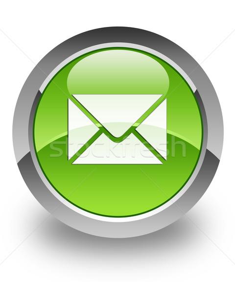 Stok fotoğraf: E-mail · parlak · ikon · yeşil · telefon · kutu
