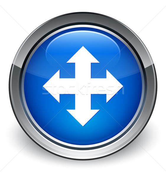 Move icon glossy blue button Stock photo © faysalfarhan