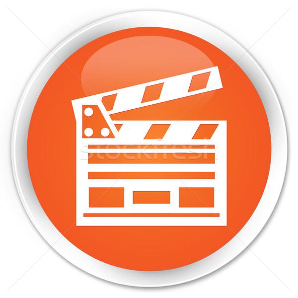 Zdjęcia stock: Kina · klip · ikona · pomarańczowy · przycisk · film