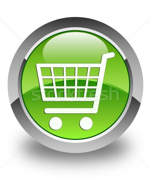 Ecommerce ikona zielone przycisk technologii Zdjęcia stock © faysalfarhan