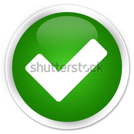Validate icon glossy green round button Stock photo © faysalfarhan