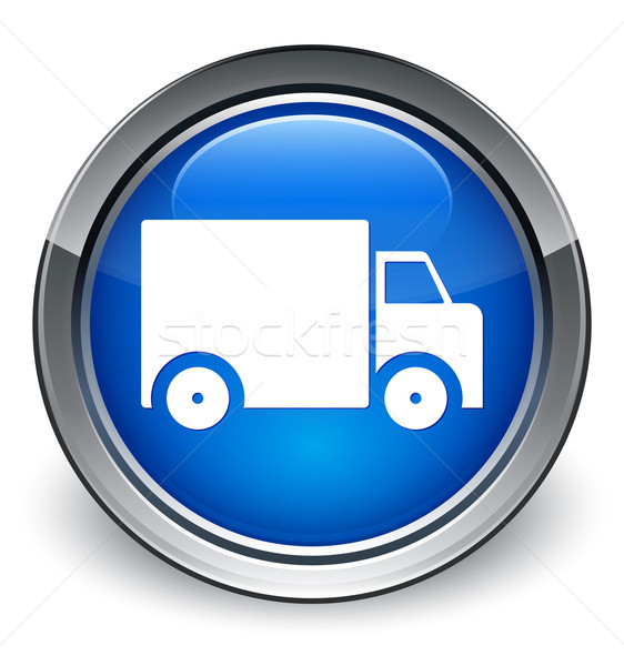 Delivery truck icon glossy blue button Stock photo © faysalfarhan