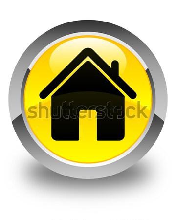 Home icon glossy black round button Stock photo © faysalfarhan