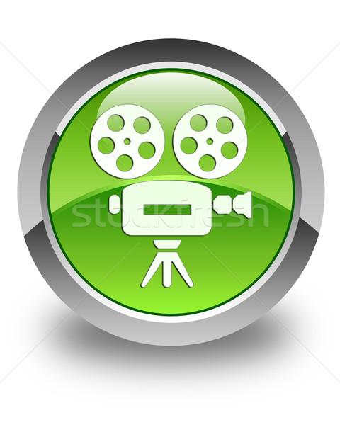 видеокамерой икона зеленый кнопки экране Сток-фото © faysalfarhan
