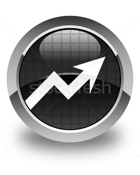 Business graph icon glossy black round button Stock photo © faysalfarhan