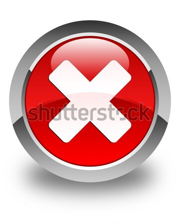 Cancel icon glossy brown round button Stock photo © faysalfarhan
