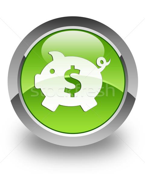 Pénz doboz fényes ikon dollár zöld Stock fotó © faysalfarhan