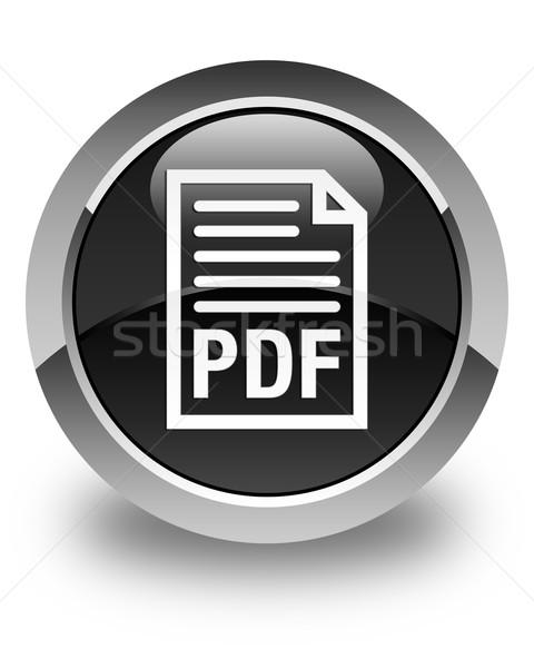 Pdf documento ícone preto botão Foto stock © faysalfarhan