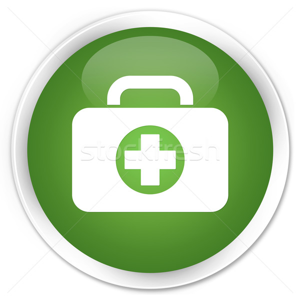 First aid kit icon green button Stock photo © faysalfarhan