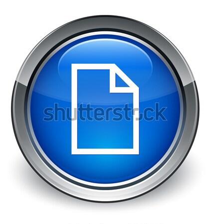 пустая страница синий кнопки служба бумаги Сток-фото © faysalfarhan