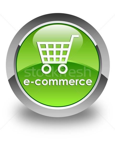 электронной коммерции зеленый кнопки технологий магазин Сток-фото © faysalfarhan