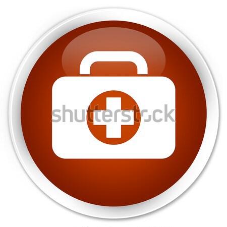 応急処置 キット アイコン ブラウン ボタン ストックフォト © faysalfarhan