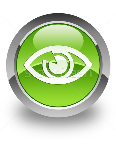 Eye glossy icon Stock photo © faysalfarhan