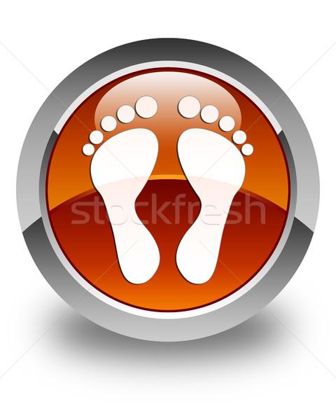 след икона коричневый кнопки тело Сток-фото © faysalfarhan