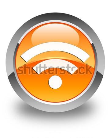 Wifi Symbol glänzend schwarz Taste Netzwerk Stock foto © faysalfarhan