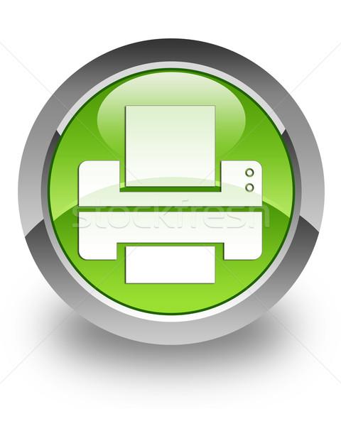 Printer glossy icon Stock photo © faysalfarhan