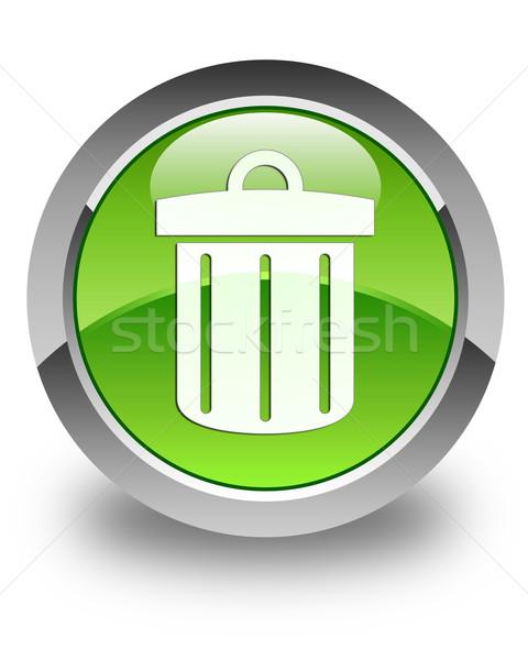 Reciclar icono verde botón Foto stock © faysalfarhan