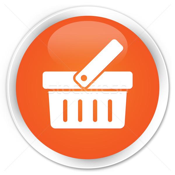 Alışveriş ikon turuncu düğme imzalamak pazar Stok fotoğraf © faysalfarhan