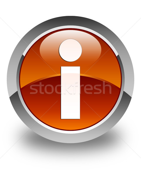 Info ikona brązowy przycisk podpisania Zdjęcia stock © faysalfarhan