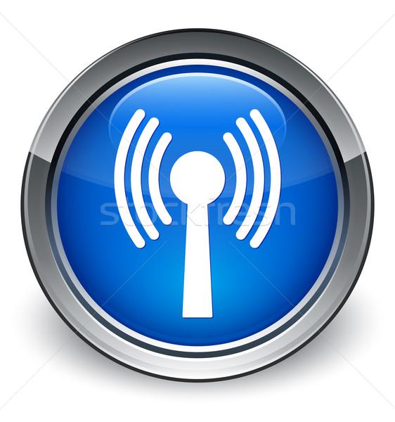 Wlan network icon glossy blue button Stock photo © faysalfarhan
