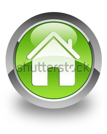 Otthon fényes ikon zöld technológia kapcsolat Stock fotó © faysalfarhan