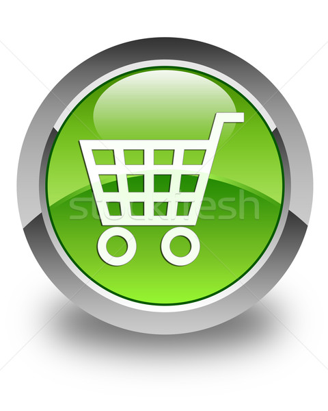 E-commerce icon glossy green round button Stock photo © faysalfarhan