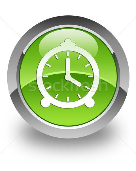 Reloj icono verde tiempo ver Foto stock © faysalfarhan