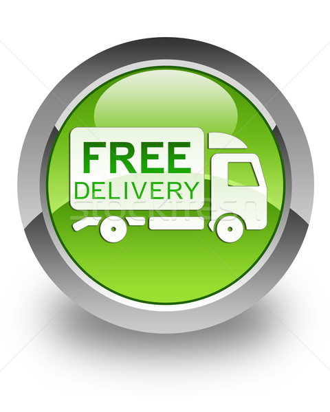 Free delivery truck glossy icon Stock photo © faysalfarhan
