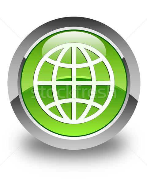 世界 アイコン 緑 ボタン 地球 ストックフォト © faysalfarhan