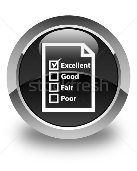 Questionnaire icon glossy black round button Stock photo © faysalfarhan