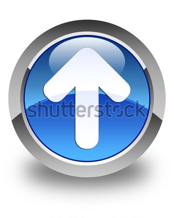 Upload arrow icon glossy black round button Stock photo © faysalfarhan