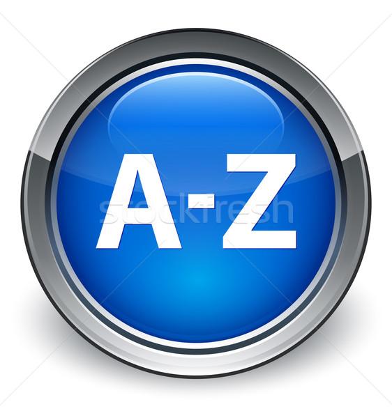 A-Z icon glossy blue button Stock photo © faysalfarhan