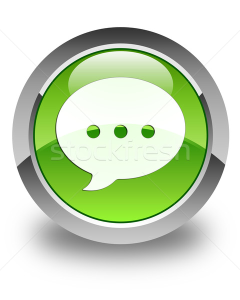 Conversación icono verde botón Internet Foto stock © faysalfarhan