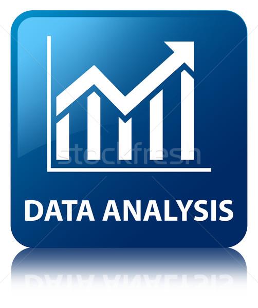 Dati analisi statistiche icona lucido blu Foto d'archivio © faysalfarhan