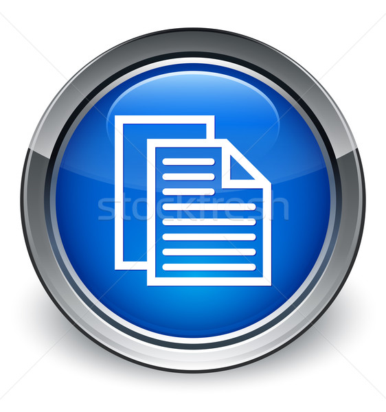 Contact pages icon glossy blue button Stock photo © faysalfarhan