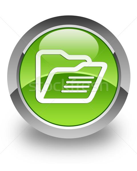 Carpeta icono verde web grupo Foto stock © faysalfarhan