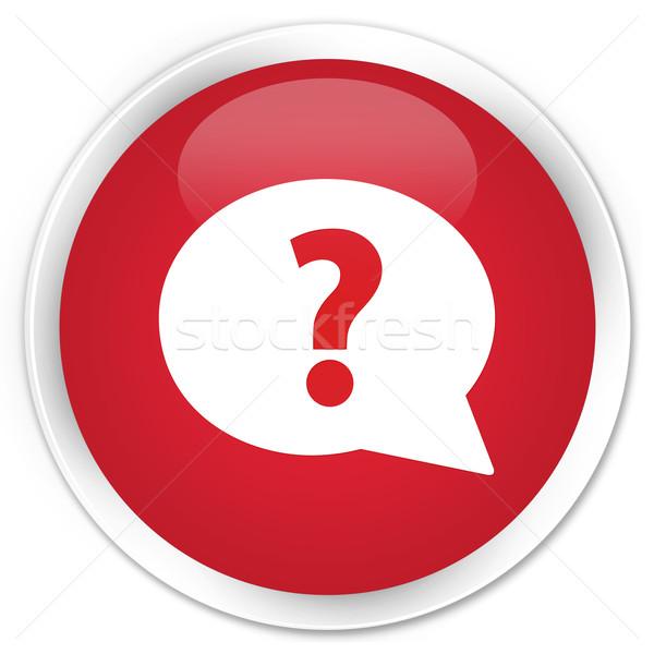 Question icon red button Stock photo © faysalfarhan