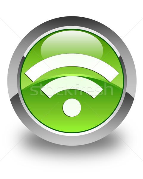 Wifi icon glossy green round button Stock photo © faysalfarhan