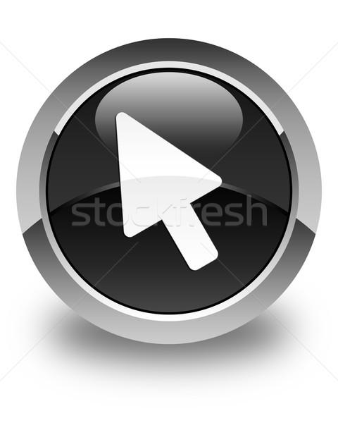 カーソル アイコン 黒 ボタン 白 ストックフォト © faysalfarhan