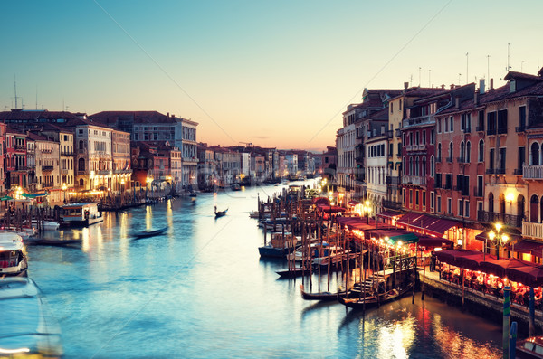 Photo stock: Canal · Venise · Italie · coucher · du · soleil
