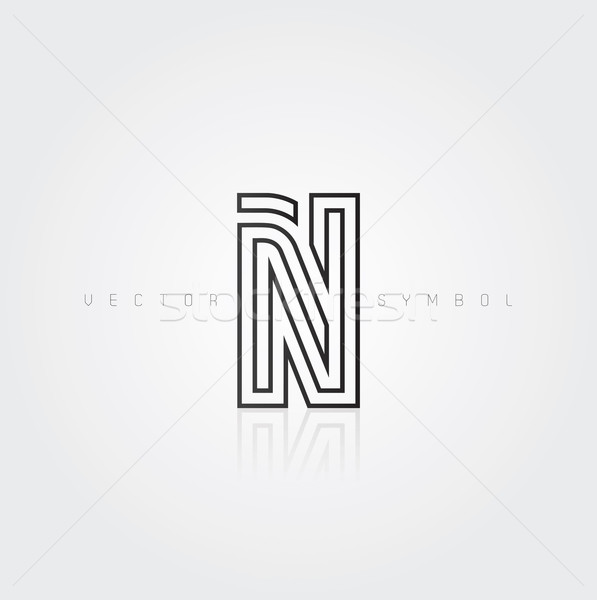 Vector graphic elegant and creative line alphabet / Letter N Stock photo © feabornset